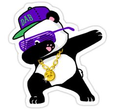 Dabbing Panda Funny Shirt Dab Hip Hop • Also buy this artwork on stickers, apparel, phone cases, and more. Phone Decals, Wall Decal Sticker, Imagenes Free, Wall Stickers Cartoon, Funny Stickers, Panda Funny, Panda Art, Panda Wallpapers, Pet Monkey