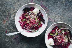 Salade quinoa, bettrave et pommes