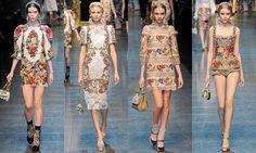 #moda #barroco #dolce #gabanna #trend
