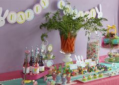 This is a hella cute dessert/candy table for Easter...I am so recreating this.
