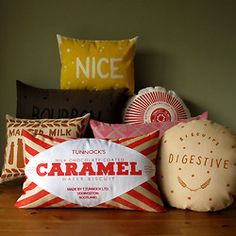 biscuit cushions these would be great for a young teenagers room