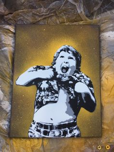 "PRINT - 11""x14"" painting 'Truffle Shuffle' - Original painting of Chunk from the movie The Goonies on canvas by killadeathspray on Etsy"