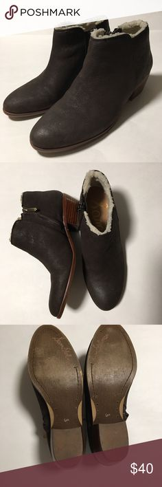 Sam Edelman Petty Faux-Fur Mid Heel Booties Pre-owed but in excellent condition. Super cute.  they go with practically anything in your closet. Sam Edelman Shoes Ankle Boots & Booties