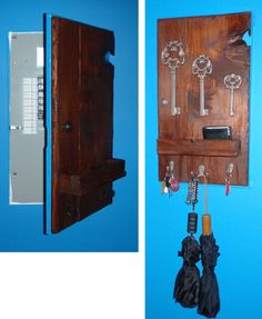 rustic electrical panel / keyrack made with new materials