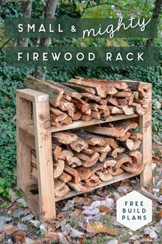 This small but mighty DIY firewood rack stand can hold a lot of firewood! See how I built this stand for my front porch in this step by step tutorial with free build plans. Decor Style Home Decor Style Decor Tips Maintenance Firewood Stand, Outdoor Firewood Rack, Firewood Holder, Firewood Storage, Firewood Rack Plans, Stacking Firewood, Small Wood Projects, Outdoor Projects, Diy Projects
