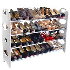 Disciplined Convenient Shoebox Shoes Organizer Stand Shelf Fashion Shoe Racks Modern Double Cleaning Storage Shoes Rack Living Room Bathroom Shelves