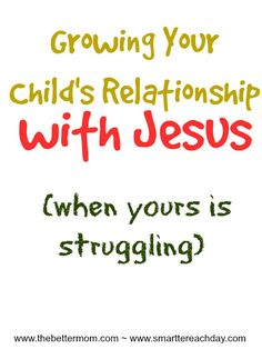 Have you ever questioned how to lead your little one to Jesus when you are struggling in your own relationship with Him? Have you let guilt or shame or just the lag of time keep you from the Lord? For any mother who is spiritually dry, this post will help you learn how to help your child's relationship with the Lord flourish, and even teach you how to restore your own.