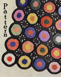 Pattern  Aurora Grandmothers Flowers Afghan by sewinghappyplace (Craft Supplies & Tools, Patterns & Tutorials, Fiber Arts, Crochet, pdf, pattern, crochet, vintage, 1940s, aurora, grandmothers flowers, crochet rounds, lattice join, sewinghappyplace, sewing happy place, granny square, blanket)