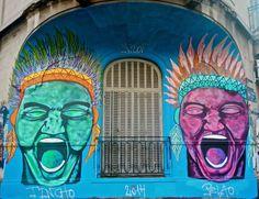 "Mural por Almagro ""DAle Aborigen"""