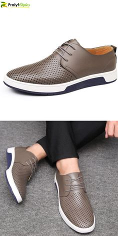 Leather Summer Shoes Men Casual Shoes, Men Leather Shoes, Men Oxford Suit, Men Lace up Shoes. Mens Casual Dress Shoes, Mens Casual Leather Shoes, Casual Slip On Shoes, Men Casual, Men's Leather, Shoes With Shorts, Mens Winter Boots, Mens Boots Fashion, Luxury Shoes
