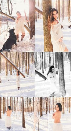 Katherine Henry Boudoir - - Tada Makeup + Weddings Winter Outdoor styled Boudoir shoot, bring your dog to the shoot! #boudoir #inspiration #outdoor #freepeople #bostonboudoir www.khboudoir.com