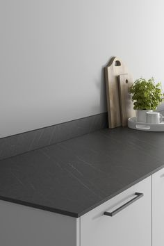 Looking for marble countertops ideas? Our Lightning Grey Marble Effect Compact Laminate Worktop looks amazing when paired with a dove grey slab kitchen and black kitchen hardware. These grey marble effect kitchen countertops are affordable and are perfect for creating your a waterfall worktop for a modern kitchen design. Kitchen Worktops, Grey Kitchen Cabinets, Kitchen Hardware, Light Grey Kitchens, Black Kitchens, Laminate Installation, Light Grey Walls, Marble Effect, Work Surface