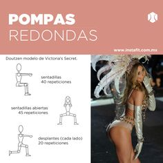 "Workouts Plans : Illustration Description Rutina para pompas redondas de Victoria's Secret ""Life begins at the end of your comfort zone"" ! Fitness Tips, Fitness Motivation, Health Fitness, Yoga Routine, Butt Workout, Gym Workouts, Modelos Victoria Secret, Muscle Girl, How To Become Smarter"