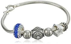 """CHARMED BEADS Sterling Silver Reach For The Stars Bead Bracelet, 7.5"""" *** Learn more by visiting the image link."""