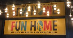 Fun Home on Broadway Fun Home Broadway, Fun Home Musical, Broadway Theatre, Musical Theatre, Theatre Stage, Theater, I Coming Home, Junk Drawer, I Fall