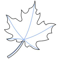 How To Draw Simple Leaves Drawing Pinterest Leaf Drawing Easy
