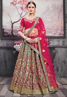 Lehenga Dupatta, Bollywood Lehenga, Bollywood Outfits, Lehenga Choli Online, Bridal Lehenga Choli, Indian Lehenga, Silk Dupatta, Anarkali, Wedding Lehnga