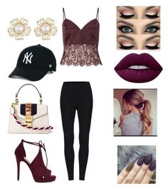 """""""Untitled #1754"""" by glamor234 on Polyvore featuring Miss Selfridge, ALDO, Gucci and Lime Crime"""