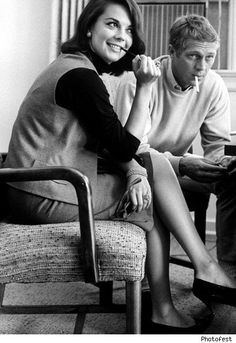 Natalie Wood and Steve McQueen