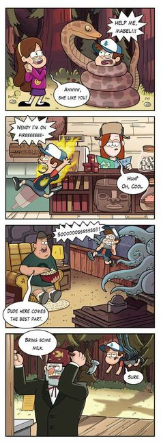 Gravity falls<<<I love how he just accepts the fact no one else ever see's it and it's like Sure. Gravity Falls Funny, Gravity Falls Comics, Gravity Falls Art, Gravity Falls Dipper, Gravity Falls Secrets, Gravity Falls Personajes, Grabity Falls, Dipper And Mabel, Dipper Pines