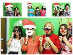 2nd Grade Shenanigans ...Christmas party photo booth