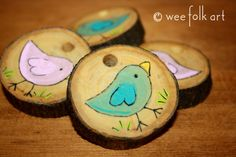 BFF Wooden Medallion Pendants | Wee Folk Art