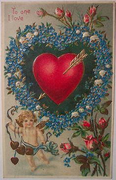 Vintage Valentine's Day Postcard...I have one almost like this