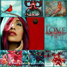 '' Red & Turquoise '' by Reyhan Seran Dursun
