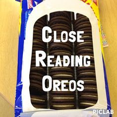 "Free!! Introducing Close Reading with Oreos- LOVE this!....Follow for Free ""too-neat-not-to-keep"" teaching tools & other fun stuff :)"