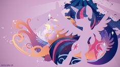 Princess Twilight Silhouette Wall by ~SpaceKitty