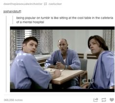Haha I will never get tired of there being a supernatural gif for everything
