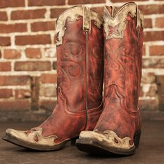 Meet Nikki from Rebel Bootmakers. http://www.countryoutfitter.com/products/77213-womens-nikki-boot-vintage-red-cinnamon/?lhb=style