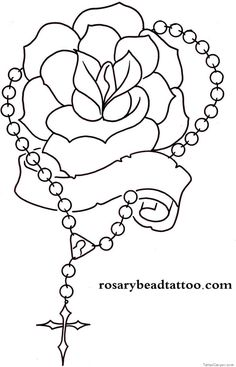Tattoo designs including banner and cross tattoos, rosary tattoo designs are also included Foot Tattoos, Small Tattoos, Nice Tattoos, Sexy Tattoos, Compass Tattoo, Rosary Drawing, Rosary Tattoo Arm, Rosario Tattoo, Praying Hands With Rosary