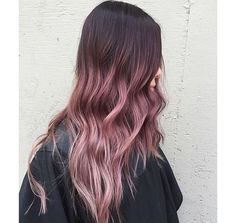 #mauve #hair #dye #ombre #color