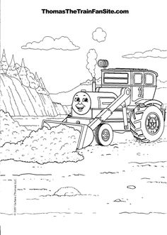 Stanley the tram engine coloring pages ~ Thomas-The-Train-Bulldozer-Coloring-Pages.gif | Thomas the ...