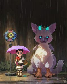 The Last Guardian x Totoro fanart. Hope you like it! :D