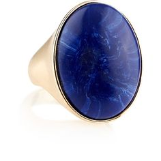 Accessorize Ocean Stone Ring ($20) ❤ liked on Polyvore featuring jewelry, rings, accessories, marble jewelry, marble ring, statement rings, oval cut ring and oval stone ring