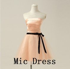 Strapless sleeveless mini A-line sashes satin pleated short prom/Evening/Party/Homecoming/cocktail /Bridesmaid/Formal from MicDress on Etsy. Wedding Bridesmaids, Bridesmaid Dresses, Prom Dresses, Formal Dresses, Plus Size Prom, Satin Tulle, Pleated Shorts, Short Prom, Quinceanera Dresses
