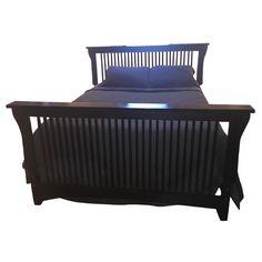 Brown Street Furniture Black Solid Cherry Arts U0026 Crafts Queen Size Bed