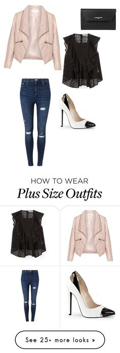 """""""Pink Leather"""" by momo-free on Polyvore featuring Lancaster, Zizzi, Rebecca Minkoff and Miss Selfridge"""