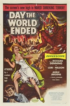 "MP1181. ""Day the World Ended"" Movie Poster by Albert Kallis (Roger Corman 1955) / #Movieposter"