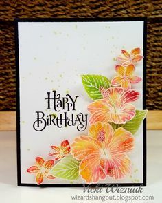 Hawaiian Hibiscus Birthday Card