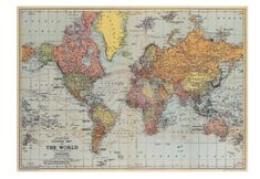 Vintage-Inspired Poster – Freckled Hen Picsart, Map Wrapping Paper, Vintage Posters, Vintage World Maps, Map Of New Zealand, Map Wall Decor, Room Decor, World Map Poster, Printable Maps