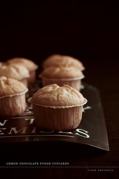 Lemon Fudge Cupcakes - Cook Republic