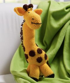 My Giraffe Toy Free Crochet Pattern from Red Heart Yarns
