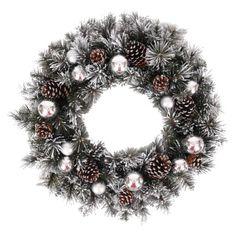 """Artificial Wreath - Silver (30"""")"""
