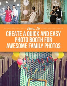 How To Create A Quick And Easy Photo Booth For Awesome Family Photos. Yeah, still need a photo for this years xmas ornament.