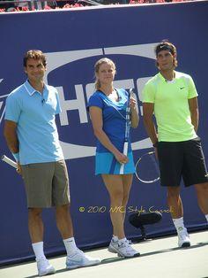 Roger Federer, Kim Clijsters and Rafael Nadal