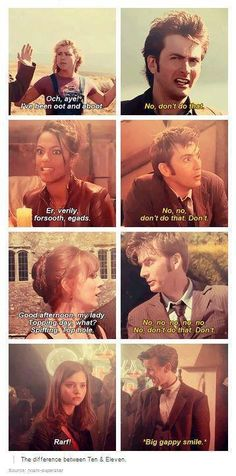 The difference between Ten and Eleven (and just because it's so true and matt's face is too funny in this!)