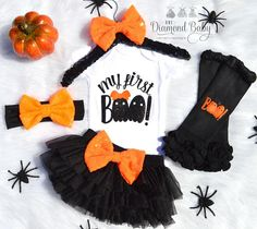Hey, I found this really awesome Etsy listing at https://www.etsy.com/listing/546824967/my-first-boo-outfit-first-halloween